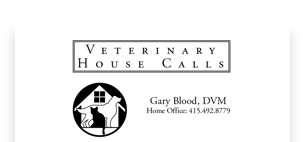 Gary Blood, DVM, Veterinary House Calls, a mobile vet in Marin County, Novato, Terra Linda, San Rafael, Greenbrae, Ross, Kentfield, San Anselmo, Fairfax, Larkspur, Corte Madera, Mill Valley, Belvedere, Tiburon, Sausalito, Marin City, Marin County